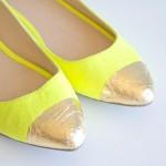 Ballerina punta foglia oro