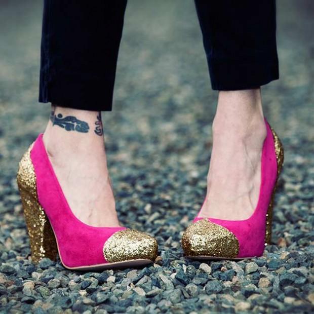 DIY-Scarpe glitter
