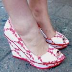 scarpe fiori