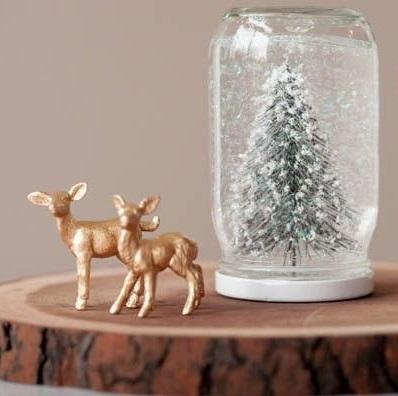 DIY Natale Barattolo Neve