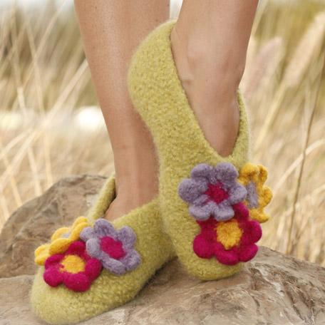 Pantofole di lana